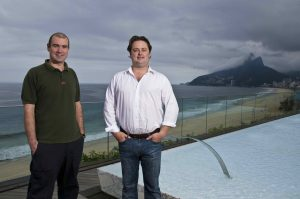 Paul Irvine, and Henry, partners of Dehouche SA, at the Fasano Hotel, Rio de Janeiro, Brazil, December 18th , 2008