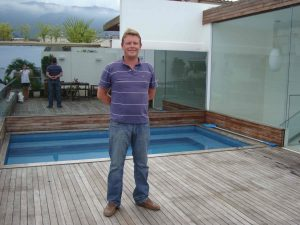 James Lomas of Indigo at his General Artigas penthouse.