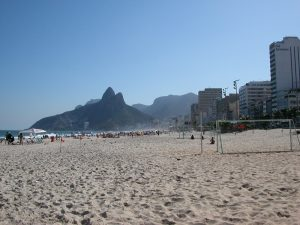 View of Dois Irmões from Ipanema Beach, photo by Hakan Almerfors.