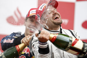 Brawn GP's Rubens Barrichello was satisfied with the 3rd place, photo by Brawn GP.