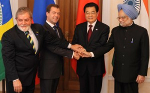 Presidents of Brazil, Russia, China and India (from left to right) at BRIC summit in Russia. Photo: Internet reproduction