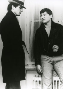 Fassbinder and Ulli Lommel in Love is Colder than Death, photo by CCBB.