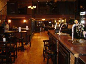 Waxy's contemporary pub interior, photo by Dan Yantin
