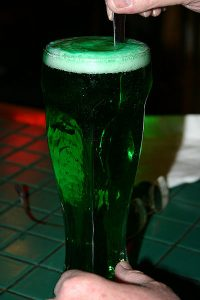 The Saint Patrick's Day classic green beer