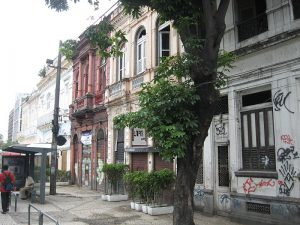 Two story colonial buildings still standing in Lapa, Rio de Janeiro, Brazil, News