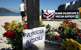 A protest on a Niterói beach, with a sign asking who silenced the voice of justice, Rio de Janeiro, Brazil News