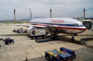 American Airlines Boeing 777 at Rio's Galeão International Airport