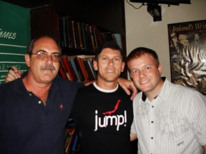 Shenanigan's owners John E. Monus on the left, and Mike Taylor on the right, Rio de Janeiro, Brazil, News