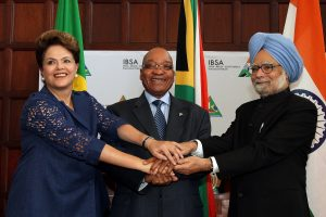President Dilma Rousseff, President Jacob Zuma and PM Manmohan Singh in Pretoria, South Africa, Brazil News