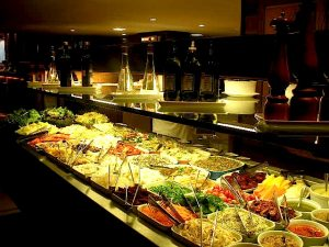 The salad bar at Frontera in Leblon, one of the higher-end kilo restaurant options,Rio de Janeiro, Brazil News