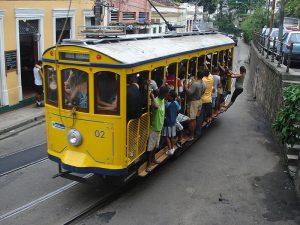 Santa Teresa tramway just past Largo do Guimarães junction, Rio de Janeiro, Brazil News