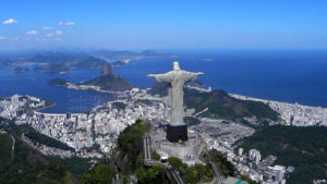 Christ the Redeemer overlooking Rio, photo by Artyominc/ Wikimedia Creative Commons License.