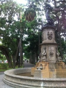 Fountain in the beautiful gardens behind Palácio do Catete, Rio de Janeiro, Brazil News
