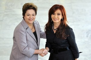 Presidents Rousseff and Kirchner during a August 2011 summit in Brasília, Brazil News