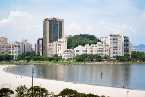 A view across the quiet (but polluted) bay of Botafogo, Rio de Janeiro, Brazil News