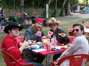 Rock, pop and country group, 'Banda ArizonaA' shown relaxing at last years event, Rio de Janeiro, Brazil News