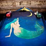 Mermaid painting, photo by FlutuArte.