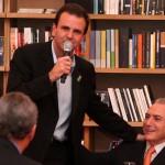 Cerimônia de abertura do Humanidade 2012, Rio+20. Da Esquerda/direita: Prefeito Eduardo Paes, Vice- Presidente do Brasil, Michel Temer e o Presidente da Firjan, Eduardo Eugenio Gouvêa Vieira.