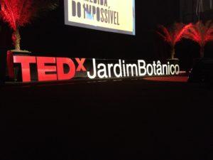 Stage at TEDXJardim Botânico, photo by Julia Averbuck