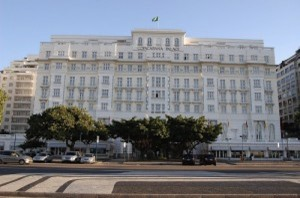 The luxurious façade of the Copacabana Palace, situated looking out to sea, Rio de Janeiro, Brazil News