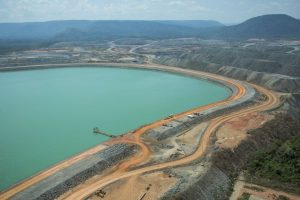 Dam in the Sossego copper mine