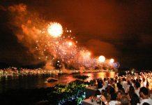 The Copacabana fireworks from Forte de Copacabana, Rio de Janeiro, Brazil News