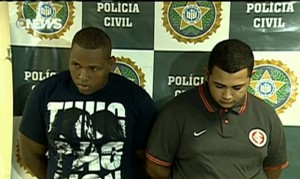 Suspects pictured at the Rio Civil Police Station, Rio de Janeiro, Brazil News
