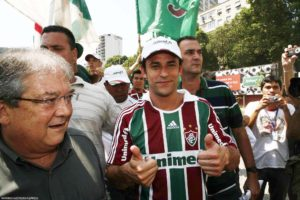 Fred on the day he signed for Fluminense, on March 5th, 2009, Rio de Janeiro, Brazil News