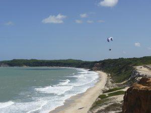 Paraglider on the coastline of Pipa, Rio de Janeiro, Brazil News