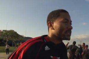 Derrick Rose of the Chicago Bulls in Rio, Rio de Janeiro, Brazil News
