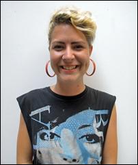 Performance artist Stephanie Greene