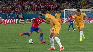 Aleis Sanchez opened the scoring for Chile last night, Rio de Janeiro, Brazil, Brazil News