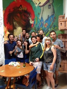 A tour group celebrates art with their beer, Rio de Janeiro, Brazil, Brazil News