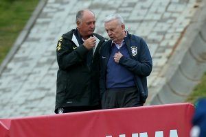 Scolari and Marín deep in conversation at Brazil's Granja Comary base on Wednesday, Rio de Janeiro, Brazil, Brazil News
