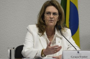 Petrobras President, Graça Foster, in November, explaining why the company delayed the release of third-quarter financial results, Sao Paulo, Brazil News