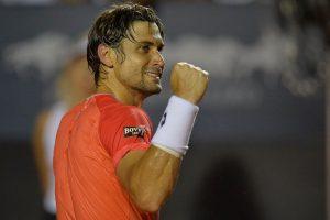 David Ferrer wins the 2015 Rio Open tennis tournament, photo image recreation.