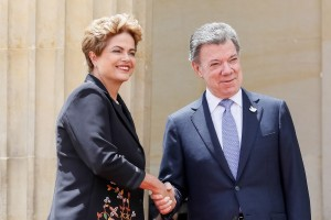 Brazil's Dilma Rousseff and Colombia's Juan Manoel Santos during official visit in Colombia, Rio de Janeiro, Brazil, Brazil News