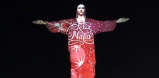 Rio de Janeiro, Brazil News, Brazil, Christmas in Rio de Janeiro, Christmas 2015 in Rio de Janeiro, Cristo Redentor, Christ the Redeemer, Video Mapping, Gaspare di Caro,