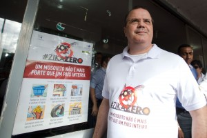 Brazil,Central Bank President, Alexandre Tombini in Brasilia during the one-day operation to combat the mosquito that transmits the Zika virus,