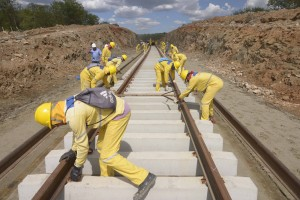 Transnordestina railway is one of the infrastructure works included in the PAC, Brazi