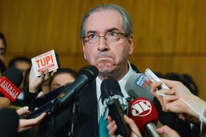 Brazil,During several moments Cunha was on the verge of tears as he announced his resignation,