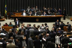 Brazil, Brasilia,Chamber of Deputies votes on lifting requirement of participation by Petrobras in all pre-salt operations