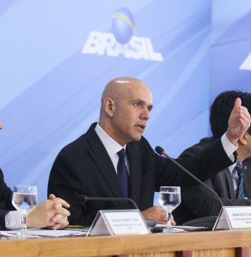 Brazil, Brasilia,Social Security Secretary, Marcelo Caetano, during a press conference to explain the new pension reform bill,