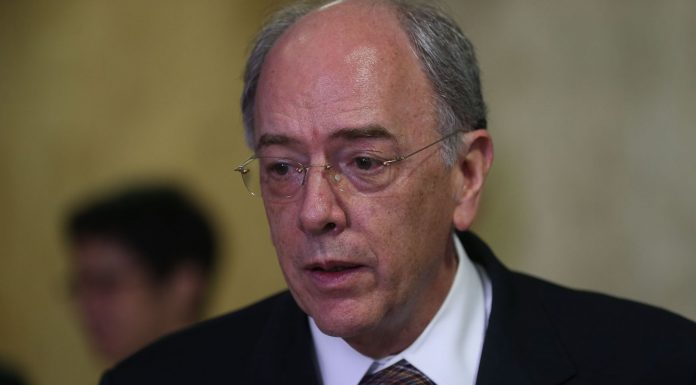 Brazil, Rio de Janeiro,Petrobras' CEO, Pedro Parente announces agreement with France's Total,