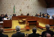 Brazil, Brasilia,Supreme Court Justices vote on whether to allow Renan Calheiros to maintain Speaker seat at Senate,