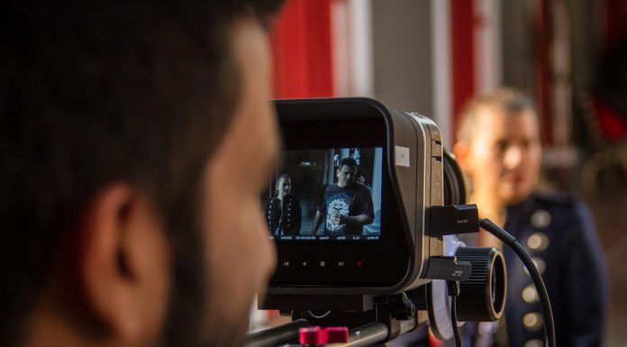 Film production taking place at the International Academy of Cinema in Botafogo, photo by Academia Internacional de Cinema.