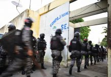 Brazil,Federal security agents enter the Compaj prison system in Manaus, Amazonas,