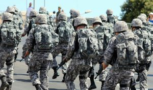 Brazil, Brasilia,Armed Forces have been authorized to help with security inside prisons,