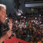Brazil,Former President Lula speaking at a conference last week
