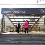 The Jardim Oceânico Metro station in Barra da Tijuca